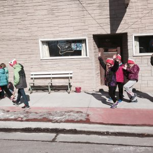 Pulaski Community School taking a history walk