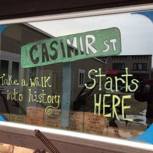 Pulaski Area Historical Society Window Decorating