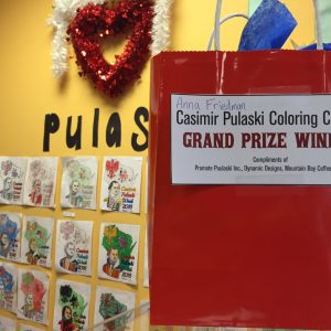 Coloring Contest winner at Mountain Bay Coffee and Gifts